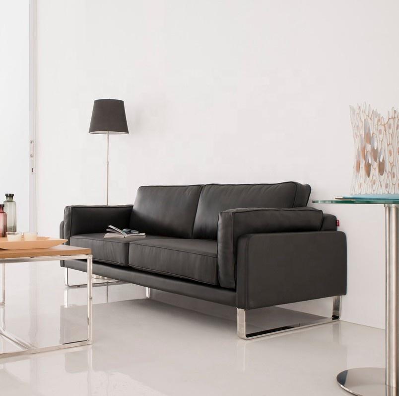 Office Living Room Classic Modern Sofa Set Black Leather Sofa Office Couch  - Buy Office Couch,Living Room Black Leather Sofa,Modern Black Leather Sofa  ...