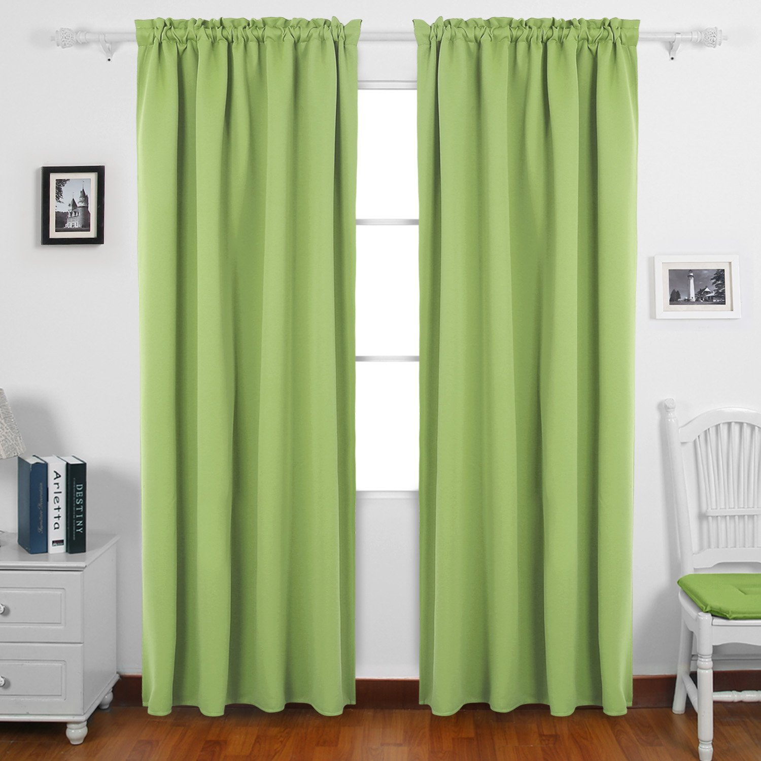 Buy Deconovo Fashionable Blackout Curtains Rod Pocket Curtains