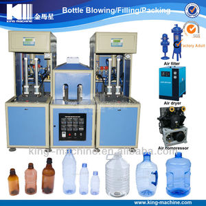 Semi-Automatic Bottle Blow Moulding Machinery / Production Line