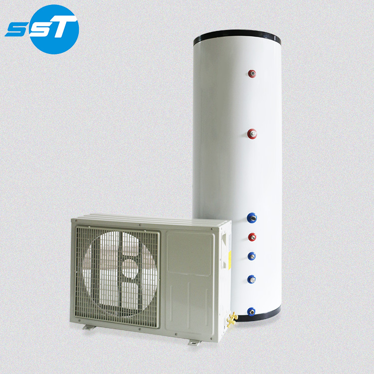 Be convenient to install 200L-300L wall mounted air sourcing heat water heater pump