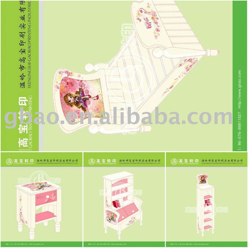 Heat transfer printing film for the child small furnitures