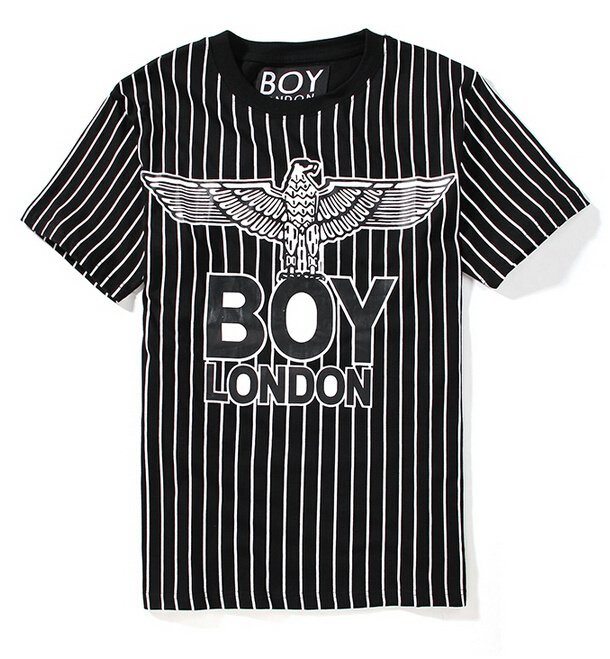 1f8399392 Get Quotations · Summer men women boy london letter Stripe Eagle round neck  casual fashion Lovers short-sleeved