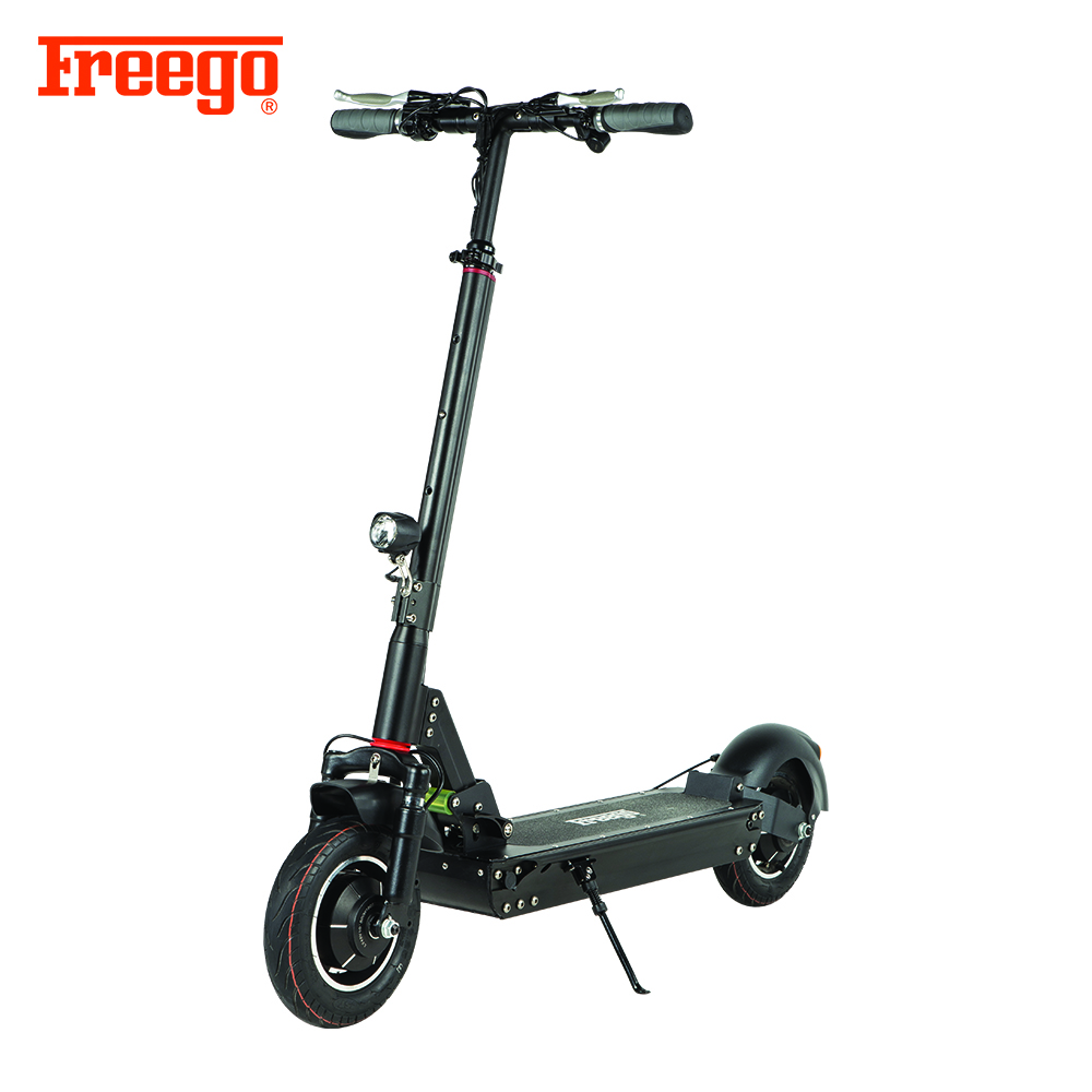 China Freego ES-10D strong power dual motor 48v 2000w 10inch 2 wheel long riding distance electric scooter