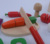 Children prentend wooden food toy Role play cutting vegetables toy