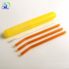 2019 New sale color glass straws reusable Borosilicate Glass straight bent drinking straw with brush and box
