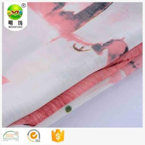 high quality polyester peach skin latest dress designs jorjet fabric