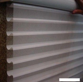 Double Layer Shangri La Sheer Horizontal Blinds For Home Decoration