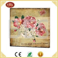 pink rose flower oil canvas painting