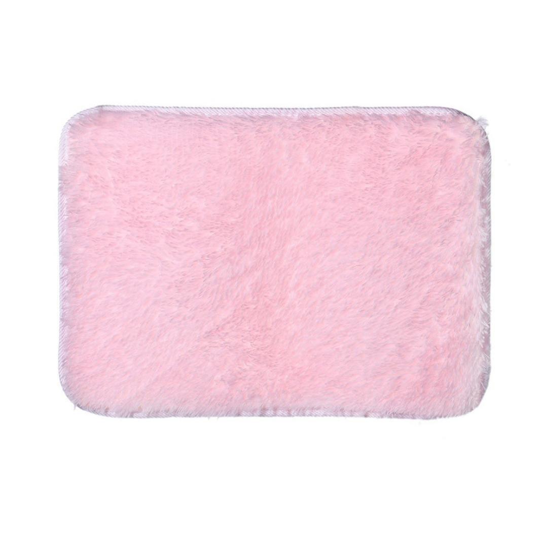 Elevin(TM) Fashion Soft Non Slip Absorbent Bath Mat Bathroom Shower Rugs Carpet (Pink)