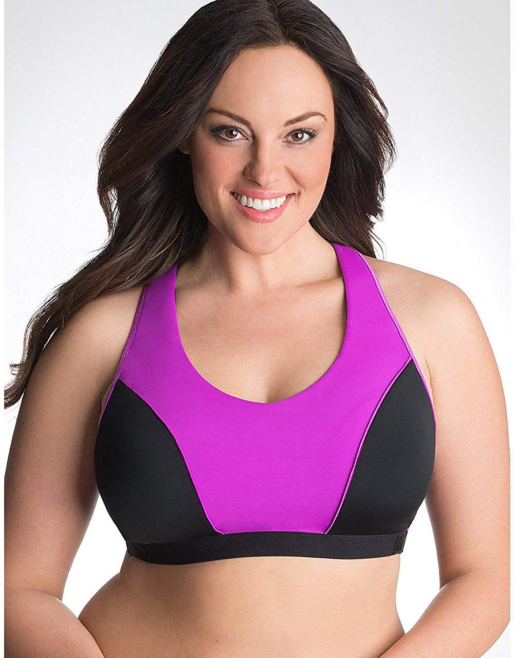 88e8e54ddd466 Get Quotations · Cacique Lane Bryant Racer Back No-Wire High Impact Sports  Bra