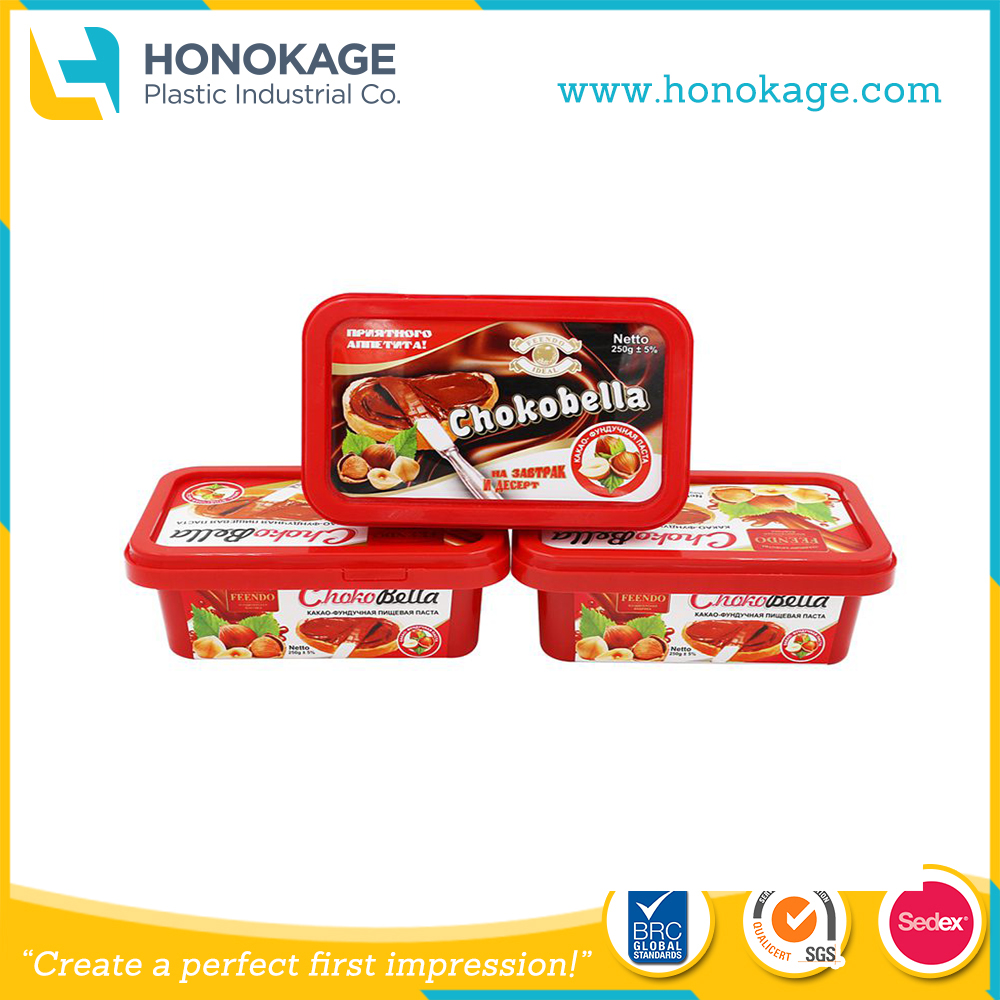 Injection IML Storage Container Box Chinese Soup Bowl with Lid for Cheese Tub,Butter Food Plastic Container