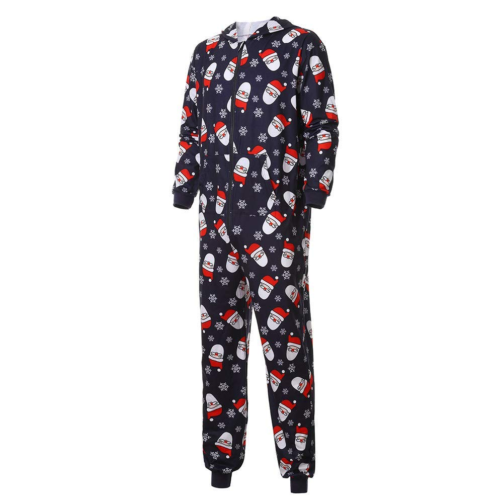 Get Quotations · Winsummer Christmas Pajamas for Family Matching Santa Onesie  PJs Footless Pajamas Navy Parent-Child Hooded 8a63ee381