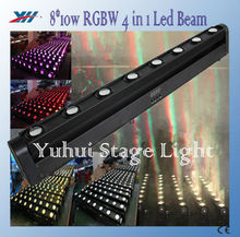 Rocker 8*10W Led Beam Light RGBW 4 in 1 Moving Head Bar