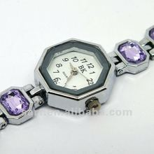 wrist watch with purple crystals/delicate watches