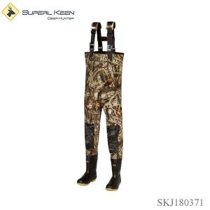 Men's neoprene chest wader rubber boot
