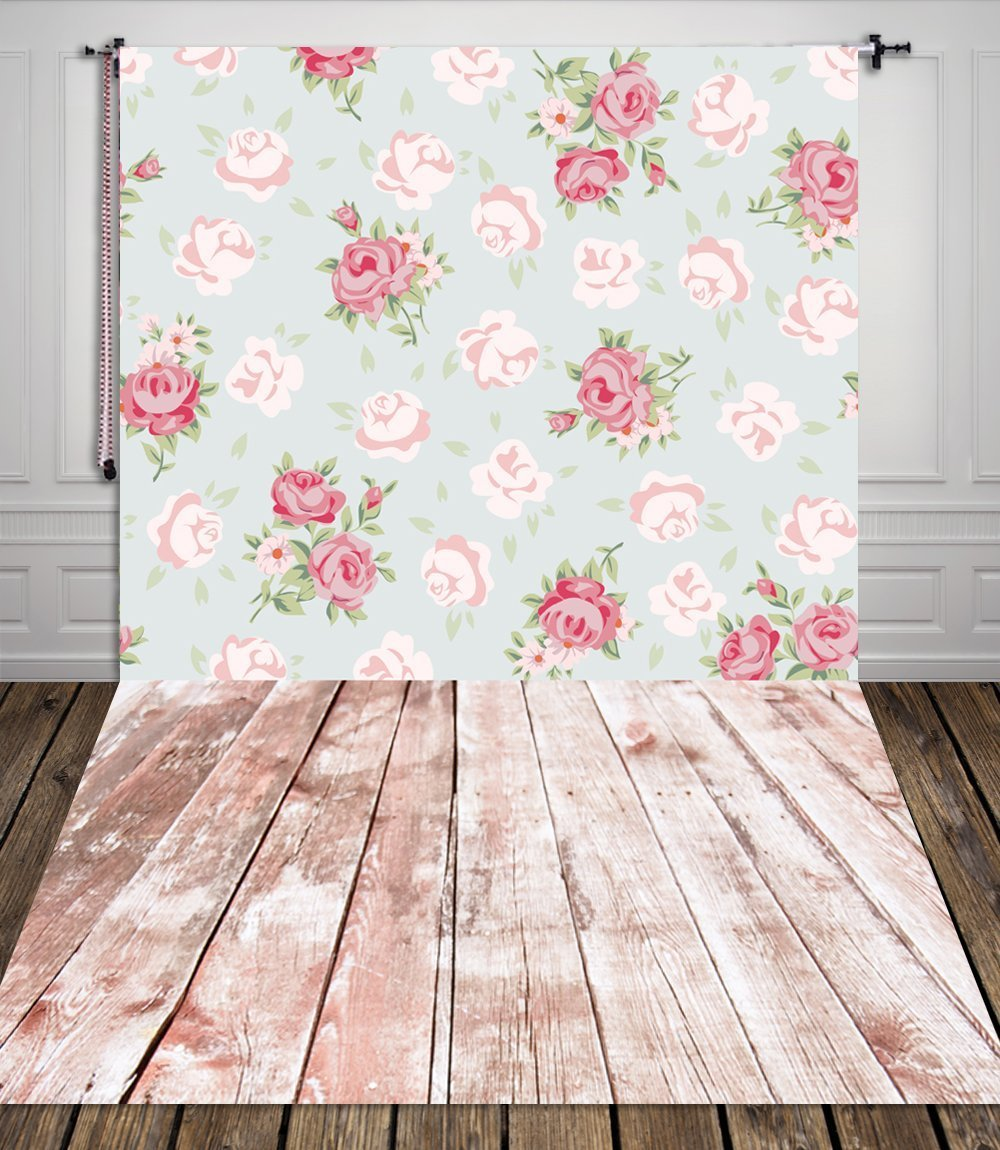 5X7FT High-grade Portrait cloth Computer printed Rose Floral Backdrop for Children CM-S-1228-A-1