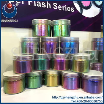 Magic color shifting multi-color chameleon chrome pigment for cosmetics,nail decoration