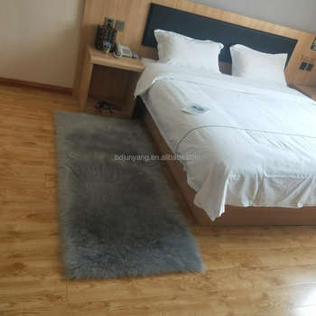 Plush imitation fur sheepskin rug custom carpet faux fur mat