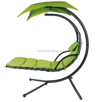 Hanging Chair Chaise Lounger Arc Stand Air Porch Swing Hammock Canopy Teal