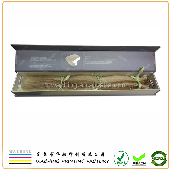 Hair extension Industrial Use and Accept Custom Order weave hair packaging box