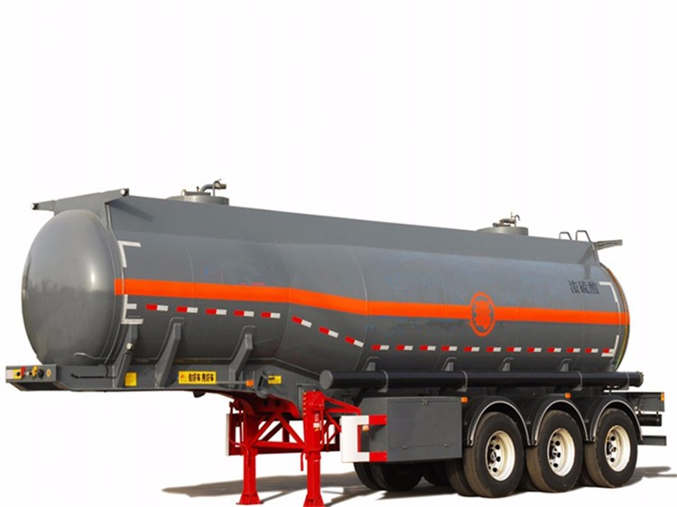 Stainless steel standard water tank truck trailer for sale