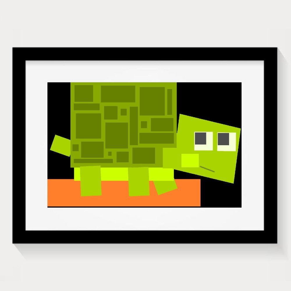Turtle Vector Graphics Cute Decorative Paintings Home Decorative Wall Art Picture