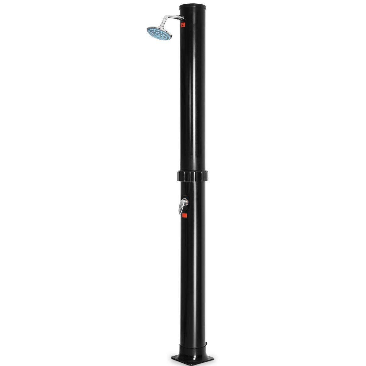 Get Quotations Fdinspiration Black 85 5 Portable Pvc Outdoor Solar Shower Free Standing Capacity 9 Gallon W