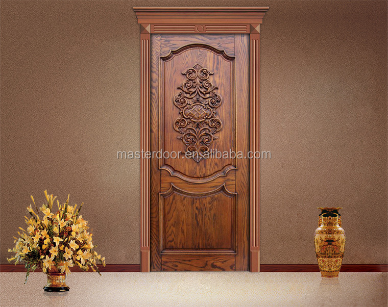 Antique wooden single main entrance door design buy for Wooden single door design for home