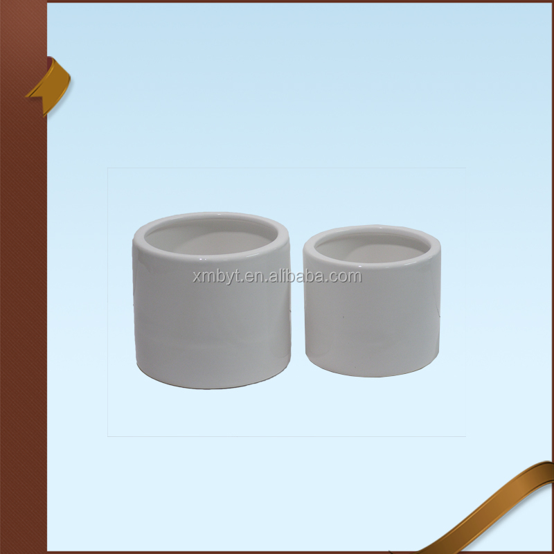 Home Decor Ceramic White Cylinder Candle Cup Candle Holder Incense Burner Candle Jar Wholesale