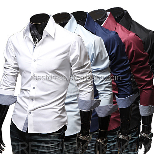 China supplier Wholesale checkout fancy Design Dress <strong>Shirt</strong> tailored slim fit trendy man's <strong>shirts</strong> casual men clothing