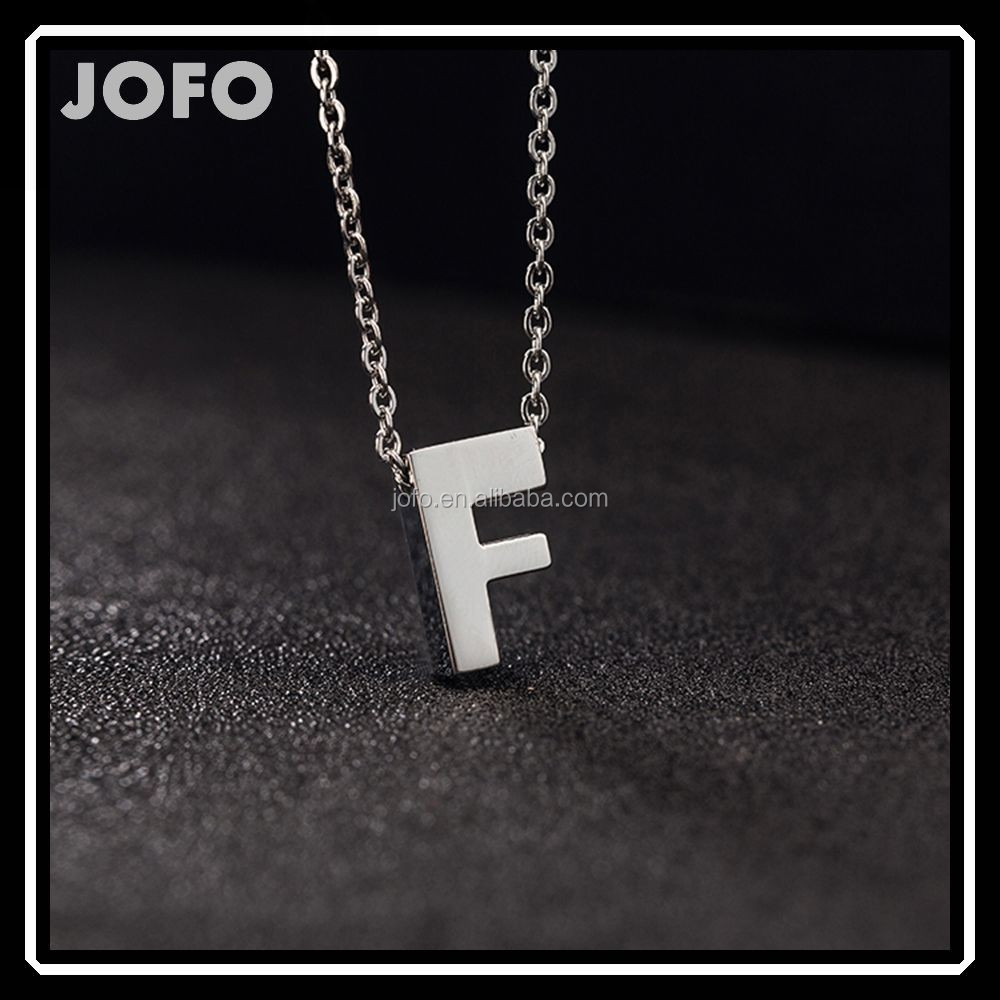 Fashion Women 316L Stainless Steel Plated Letter A-Z Initial Pendant Necklace Gift SCC0073