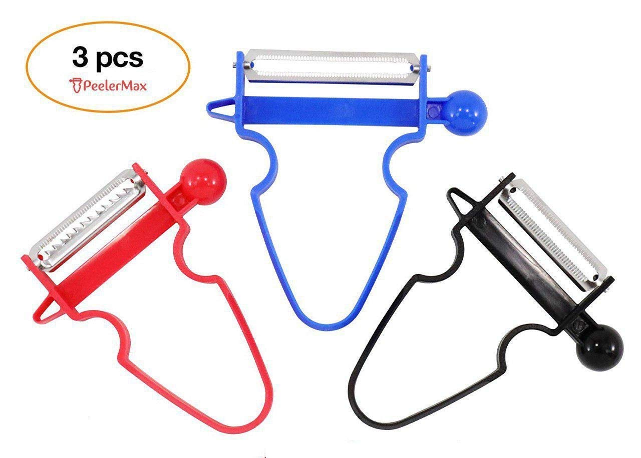KDRose 1 11 Magic Trio [2018 New] - Peel Anything in Seconds with The Amazing 3pc Peeler Set (Set of 3) [Ship from US], 1, Blue
