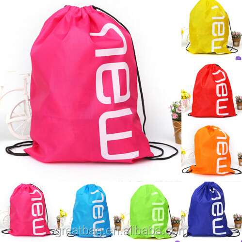 Drawstring Gym Bag School Library Swimming Travel Young Sport Backpack Bags