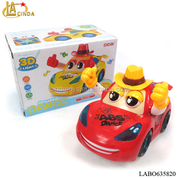 New Blink Eye Cartoon Sedan Car Kids 3d Music Dance Car Move