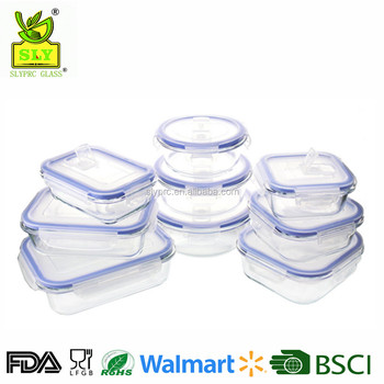 18 Piece Glasslock Food Storage Container Set, Clear High Resistance Glass  Meal Prep Containers (