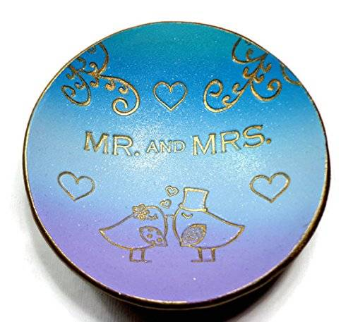 Mr. and Mrs. Ring Dish- Ready to Ship-Handmade Jewelry Holder-Trinket Dish- Polymer Clay Dish- Home Decor- Wedding Gifts Lovebirds Ring Dish