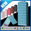 C&T 2014 new arrival luxurious vertical polka dots flip card leather case for iphone5 5s