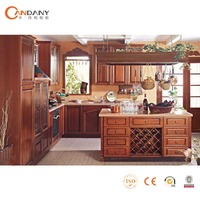 Whole solid wood modular kitcheen cabinet manufacture, kitchen cabinet with island OEM solid wood kitchen cabinet