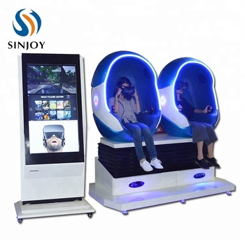 Exclusive English Version VR Movies 9D VR Egg Cinema Virtual Reality Simulation Rides Equipment