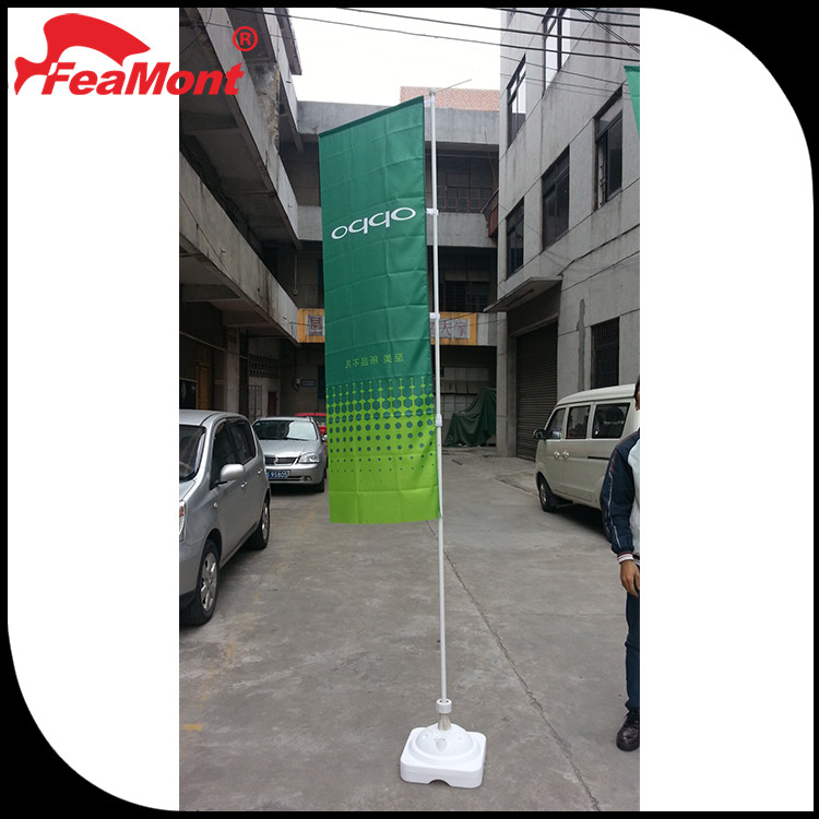 Custom Printing Advertising Wood Flag Stand with Chinese manufacturers