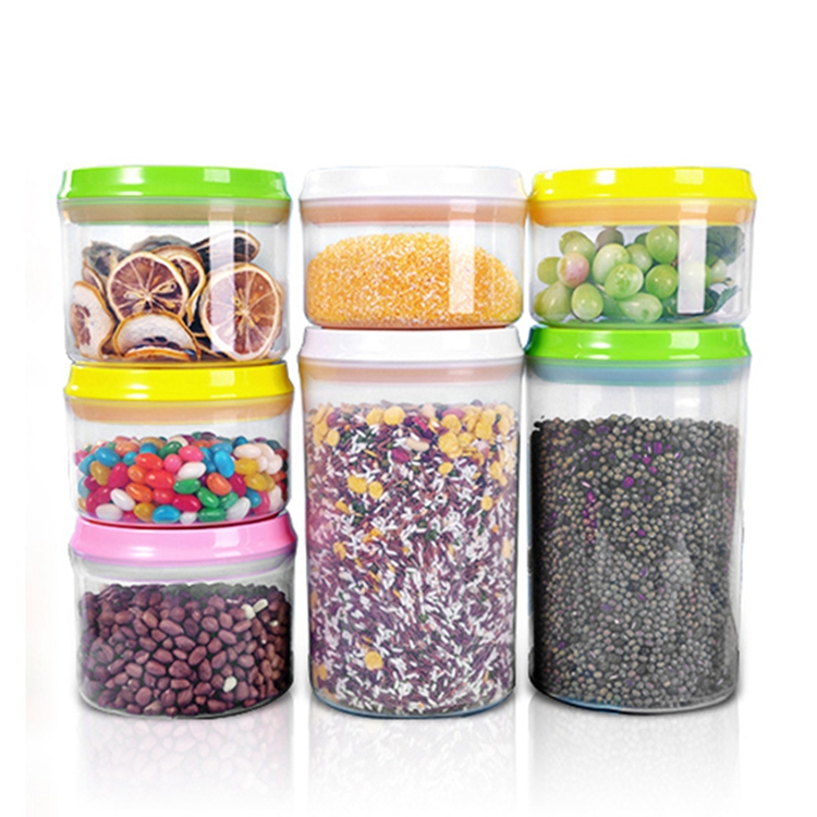 <strong>Plastic</strong> Cereal Container, POP-UP Locking Lid, Watertight - Bpa-Free <strong>Plastic</strong> - Great Food Storage Set of 6 packs