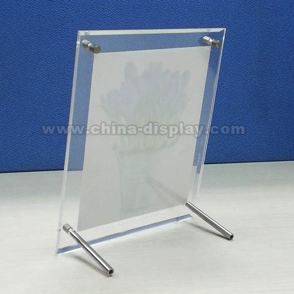 Table top transparent acrylic free standing picture frames for How to display picture frames on a table