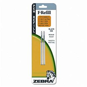 Zebra+%3A+Refill+for+F301%2C+F301+Ultra%2C+F402%2C+Silver+Select+Ballpoint%2C+Fine%2C+BE%2C+2%2Fpk+-%3A-+Sold+as+2+Packs+of+-+2+-+%2F+-+Total+of+4+Each