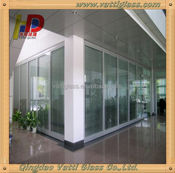 Commercial used office partition wall sliding glass room for Commercial room dividers sliding