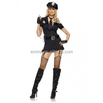 sexy women role play naughty girl halloween police costume bwg17526 - Naughty Girl Halloween Costumes