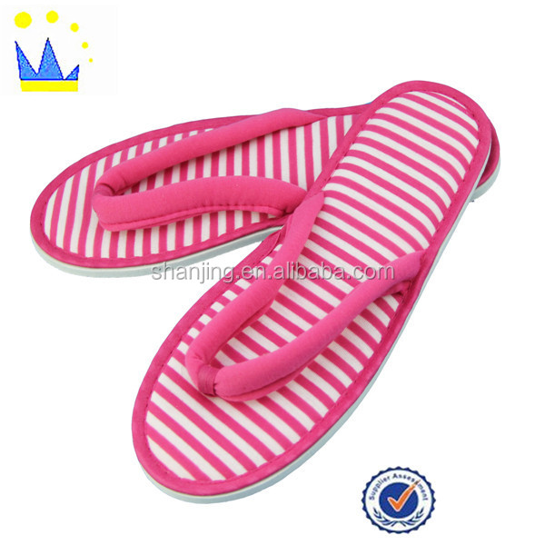 Colorful Knitted OEM Fabric Low Price Lady Flip Flop Slippers