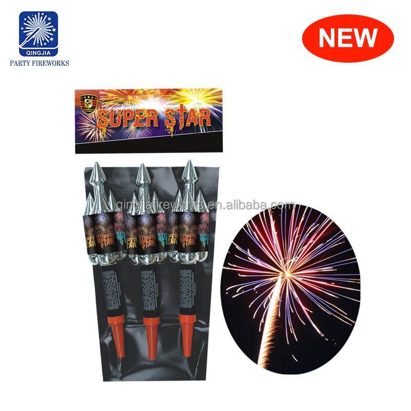 Super Star cheap price flying sky bottle rocket fireworks manufacture
