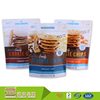 Alibaba China Supplier Custom Food Grade Self Standing Resealable Plastic Cookie Bags For Packaging Food