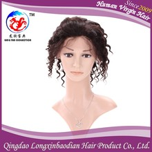 Fashionable Cheap Peerless 8'' Brazilian Deep Wave Raw Unprocessed Braided Full Lace Wigs On Selling