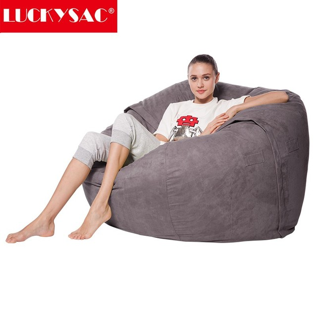 New Arrival Throne Chairs Comfort Research Classic Bean Bag In Suede
